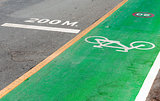 Bicycle and running lane.