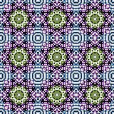Geometric seamless pattern in a motley colors
