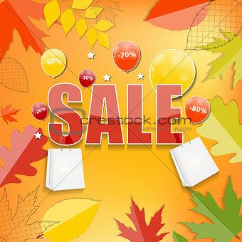 Autumn Sale Concept Vector Illustration