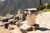 Ancient column in Delphi, Greece