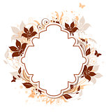 Decorative vector background with flowers