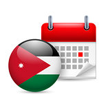 Icon of National Day in Jordan
