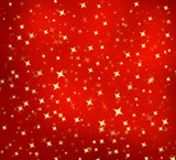 Christmas abstract background with golden stars