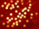 Christmas abstract background with golden lights