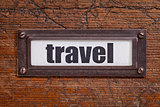 travel - file cabinet label