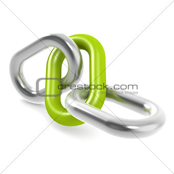 Green steel chain