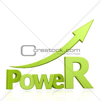 Power word with arrow