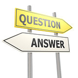 Question answer road sign