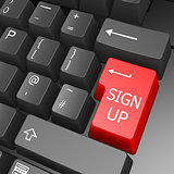 Sign up key on computer keyboard