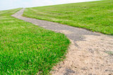 Walkway on a dyke