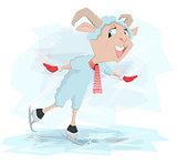 Goat skates. Symbol 2015