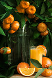 Mandarine and orange juice