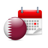 Icon of National Day in Qatar