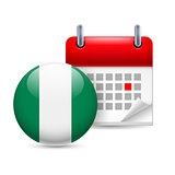 Icon of National Day in Nigeria