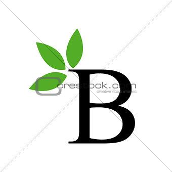Artwork with alphabet B
