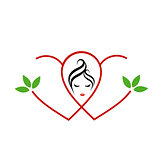 Logo for beauty or alternative medicine for ladies