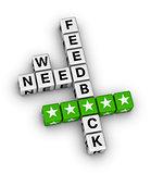 we want feedback