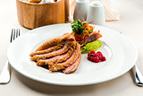Roasted filet of duck breast