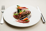 Roe deer fillet with vegetables