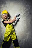 Attractive builder woman