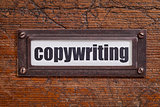 copywriting - file cabinet label