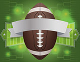 American Football Banner Illustration