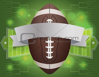 American Football Banner Illustration