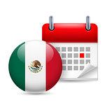 Icon of National Day in Mexico