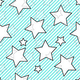 Blue seamless background with stars