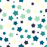 Colorful seamless background with stars
