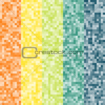 Abstract pixel colorful background