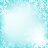 Abstract blue and white christmas background