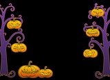 Halloween tree frame with pumpkins