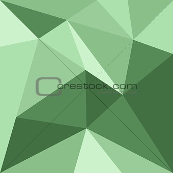 Green triangle vector background or pattern.