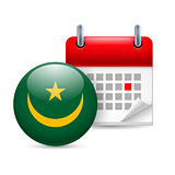 Icon of National Day in Mauritania