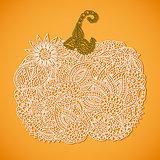 Stylized lacy doodle pumpkin