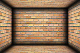 brick walls on interior architectural backdrop