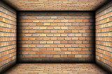 brick walls on interior architectural backdrop