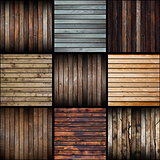 collection of interesting abstract wood planks