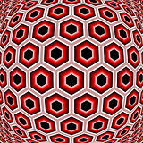 Design distorted hexagon geometric pattern