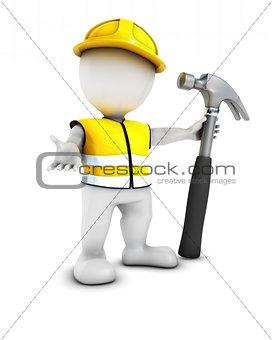 3D Morph Man Builder with hammer