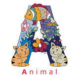 Letter A-animal