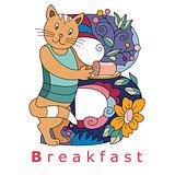 Letter B-breakfast