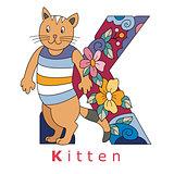 Letter K-kitten