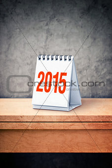 2015 calendar on wooden table