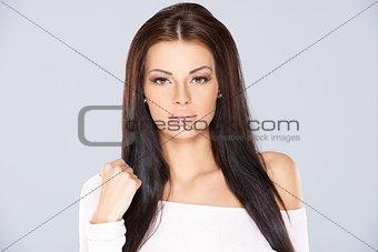 Adorable woman portrait