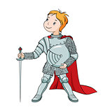 The illustration of the little knight