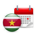 Icon of National Day in Suriname