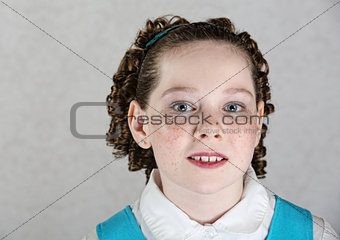 Close Up of Irish Child