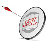 quality, safety, efficacy.